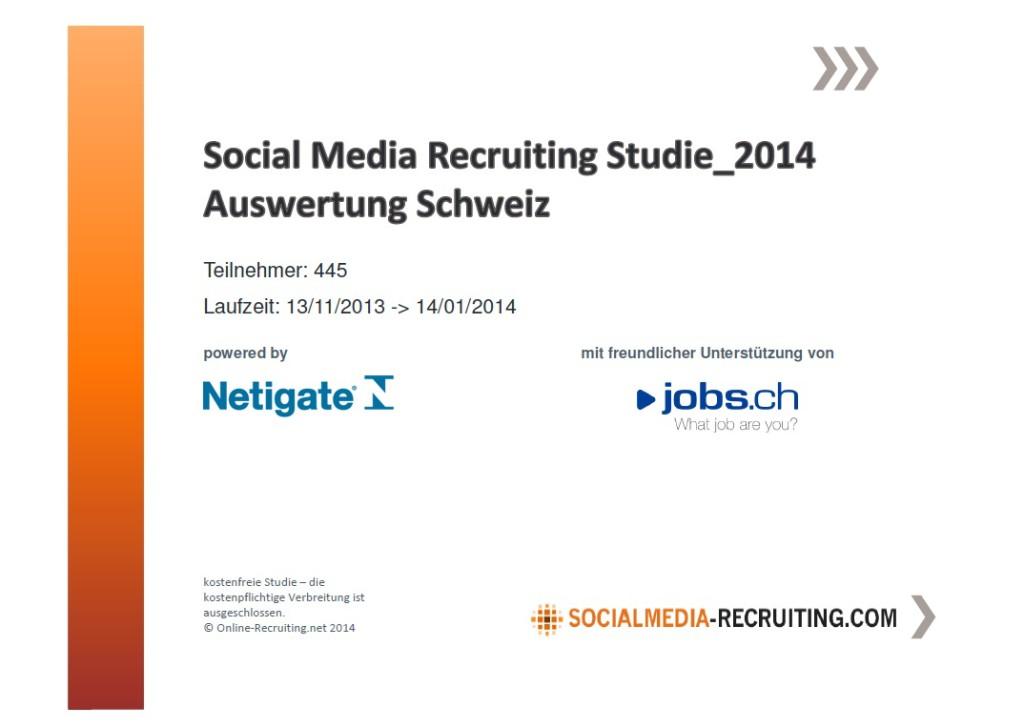 Studie_SocialMediaRecruiting2014